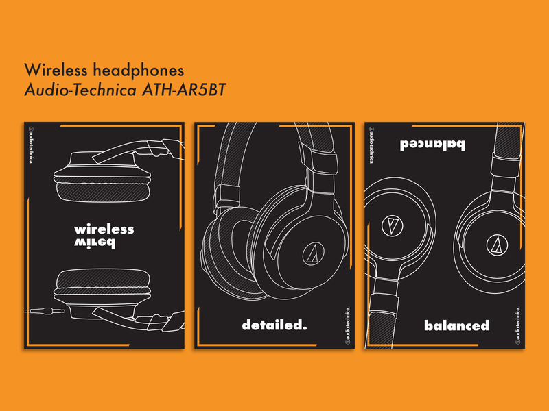 Thesis Project - Audio-Technica Posters illustration flat design vector illustrator graphic design poster design poster