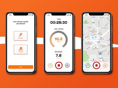 Strava Redesign redesign bike app bike cycling app cycling strava