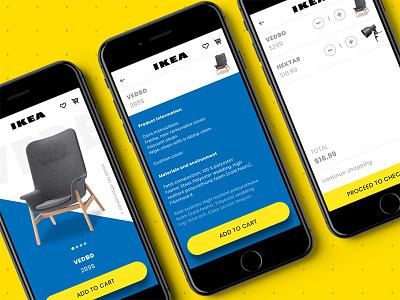 İkea Concept App cart detail product app concept ikea