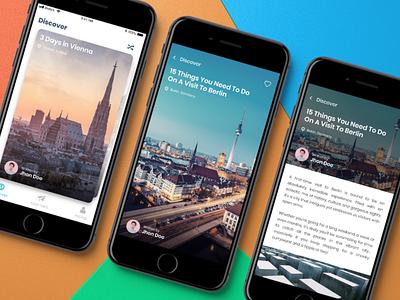 Trip Advisor Concept app Redesign article mobile app trip advisor