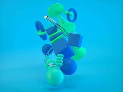 Waterflow animation ui klimotion waterfall sphere branding c4d octanerender cinema4d design