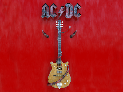 AC/DC cover arnold cinema4d c4d music 3d cover acdc