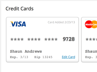 Credit Card wordpress.com credit card ui