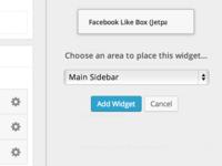 Click to Add Widgets