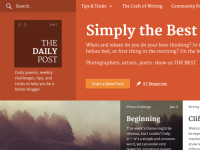 Daily Post Redesign wordpress.com blog daily post
