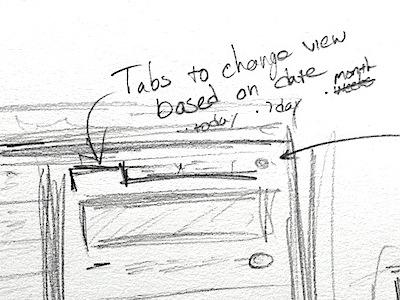 Backups navigation sketch