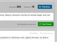 Following. Post Tweet.