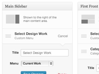 WordPress Sidebars