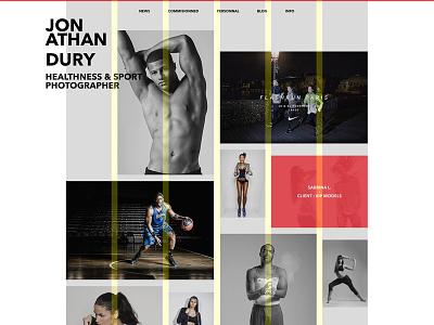 [WIP] New photo portfolio wip portfolio photographer sport commercial webdesign web ui ux identity