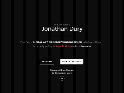 Portfolio Intro portfolio website personal detail web ui