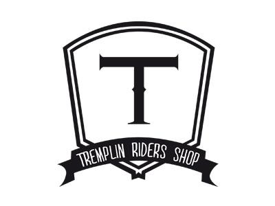Logo Tremplin Riders Shop logo identity tremplin tremplin riders shop skate roller inline bmx scooter kitesurf wakeboard wake kite snow snowboard clothing shop store