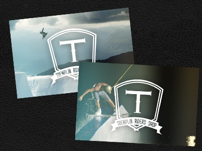 Business cards 3 - Tremplin Riders Shop business cards cards logo identity tremplin tremplin riders shop skate roller inline bmx scooter kitesurf wakeboard wake kite snow snowboard clothing shop store