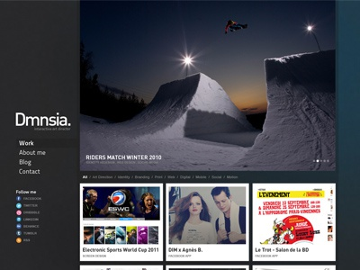 Portfolio Homepage portfolio webdesign logo redesign web menu ui jonathan dury dmnsia