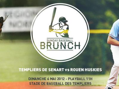 Home Game : Sunday Baseball Brunch baseball identity flyer print logo brunch sunday game jonathan dury dmnsia