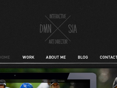 Still trying to redesign my portfolio... portfolio webdesign logo redesign web menu ui jonathan dury dmnsia