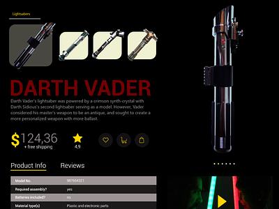 Daily UI #012   E-Commerce ecommerce lightsaber star wars web branding dailyui ui design