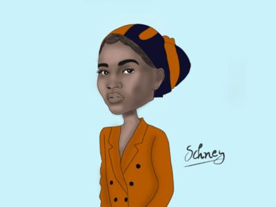Woman caricature illustrator illustration caricature