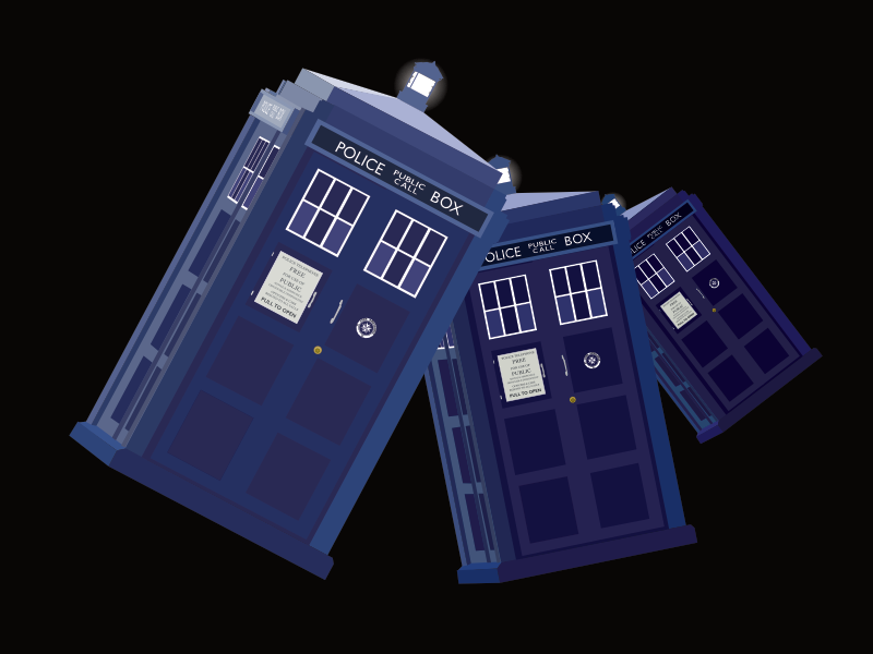 That Blue Thing time light ambulance police box blue affinity designer vector