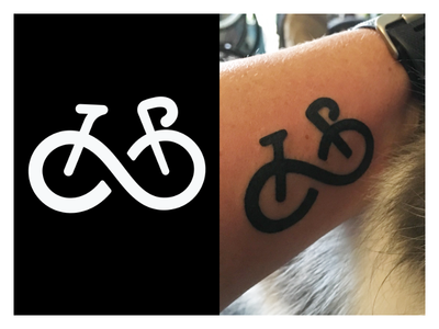 Bicycle Forever Tattoo Design