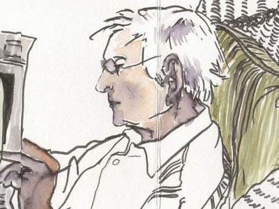 Nashville Diary sketchbook pen watercolor portrait illustration reportage