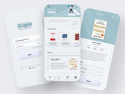 ISragen Redesign - Digital Library App digital library library mobile app redesign concept library app