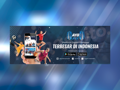 Facebook Banner - Sports Apps white blue technology dynamic fast modern banner facebook layout graphic design design bodybuilding sports