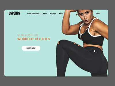 Sports Apparel Homepage  - Web Design by UltiDez webdesign online shopping sportswear