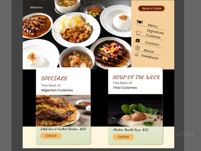 Restaurant Web Design online food online food delivery online food order food and drink restaurant food webdesign