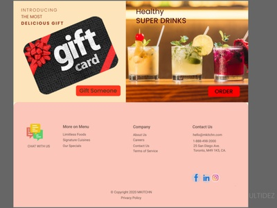 Restaurant Web design restaurant online food order online food online food delivery food and drink design food webdesign