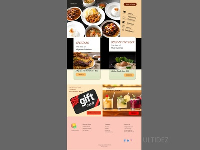Restaurant design restaurant online food order online food food design online food delivery food and drink webdesign