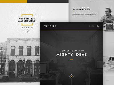 Funsize Website 3.0 - Redesign design website portfolio responsive rwd