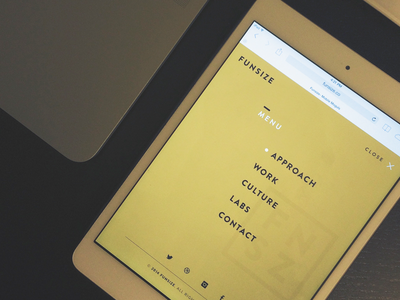 Funsize 3.0 - Menu design website portfolio responsive rwd tablet fnsz