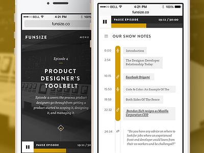 Funsize 3.0 - Podcast (Responsive) funsize podcast responsive design fnsz portfolio website web design