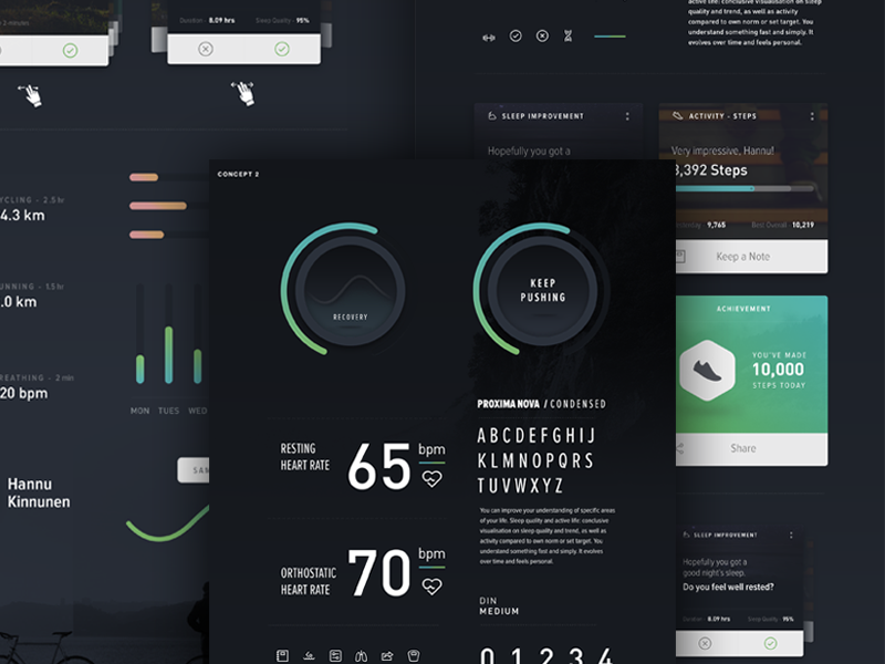 Personal Fitness Tracker Ui Mood Board By Phi Hoang