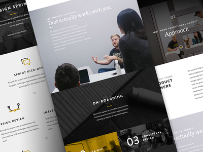 Funsize 3.0 - Our Approach fnsz funsize website redesign responsive web layout icons austin design