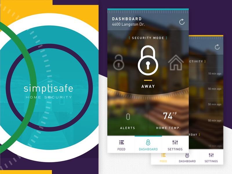 SimpliSafe - Home Security sketch sketchapp design fnsz funsize home security automation minimal ios iphone