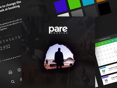 Pare Booking - Style Tile calendar ui palette color agency booking pare funsize fnsz moodboard