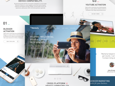 Markerly Marketing Site - Concept 1