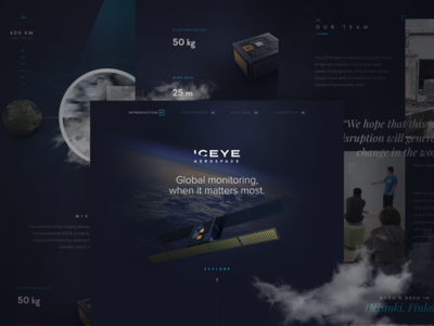 ICEYE - Marketing Site Concept funsize fnsz satellite earth site marketing design explore space