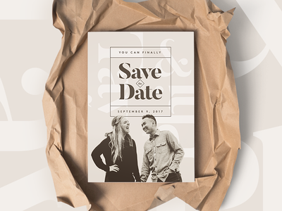 Save The Dates minimal clean engagement design photography typography invitation save the dates wedding