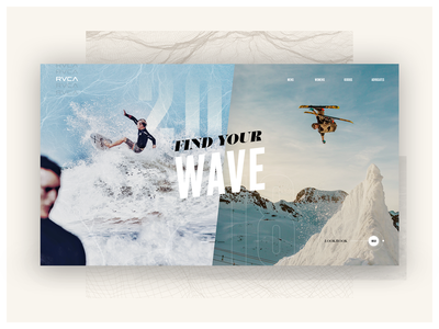 RVCA - Design Concept minimal branding layout clean typography ui simple mockup design fnsz funsize
