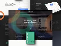 Komand Security - Landing Page Concept cybersecurity one page site landing page design landing page clean funsize fnsz design