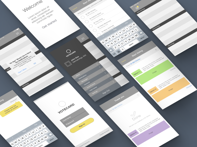 Wireframe | iOS App Design user experience user interface mobile design wireframe ios app design
