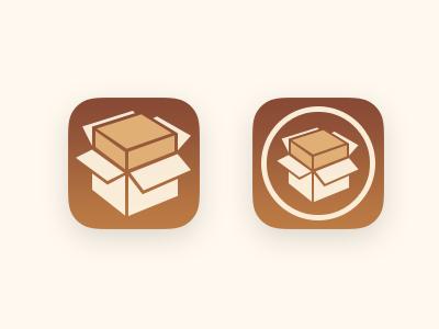 Cydia #iOS7 cydia icon ios7 apple iphone box brown grid replacement redesign design