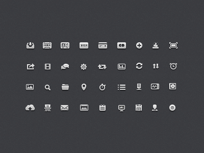 Icons tinyicons tiny icons small pixel perfect 16px 12px icon set sidebar px user screen note desktop folder cloud cd music