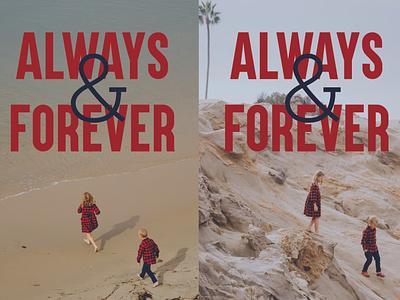 Always & Forever graphic design print design card design valentines