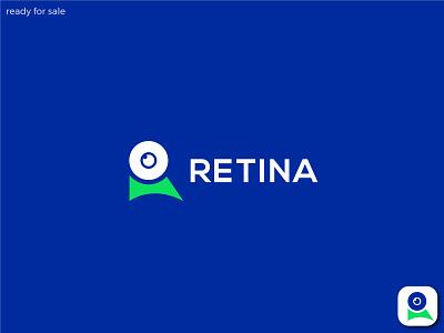 Retina logo (R letter mark) logos logo type logo design logo designer graphic design identity symbol mark custom logo icon app design latter logo logo branding logo mark r mark