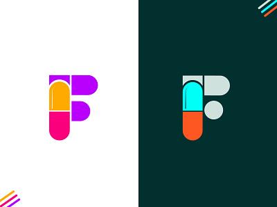 F + capsule hospital logo clinic t h e q u i c k b r o w n f o x startup cross medicine f mark f logo health care doctor identity pharmacy latter logo ui logo design branding icon logo mark medical logo