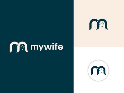 mywife (m letter logo) cosmetic logo logo design identity m mark vector m logo female face icon girls logo female logo wife logo ui illustration design app design custom logo latter logo icon logo mark branding logo