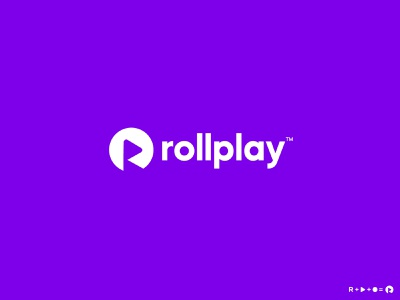 Rollplay logo | R + Play icon mark business logo tech logo identity r logo logo design photography video rollplay play icon ui illustration design app design custom logo latter logo icon logo mark branding logo